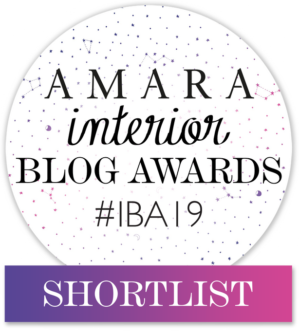 I am shortlisted for the The Amara Interior Blog Award!