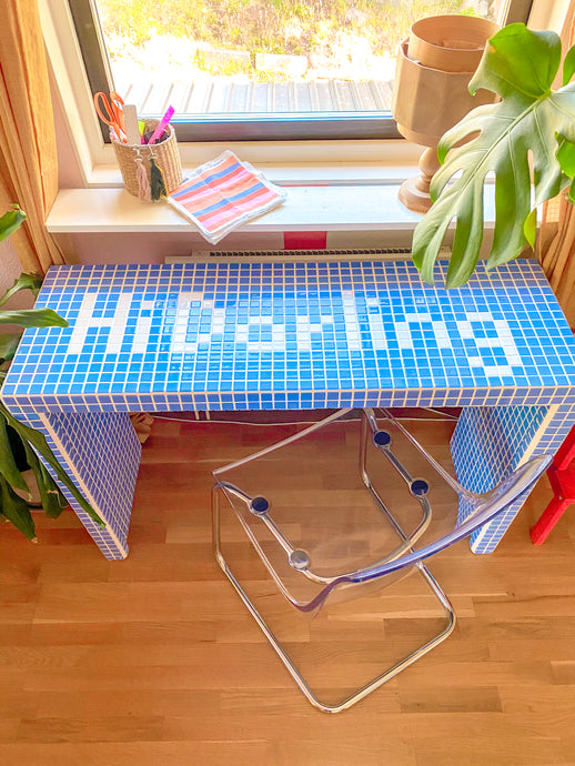 DIY Home Office Anyone? Build This FUN Tiled Desk!
