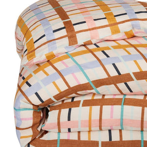 Cady Checked Linen Duvet Cover