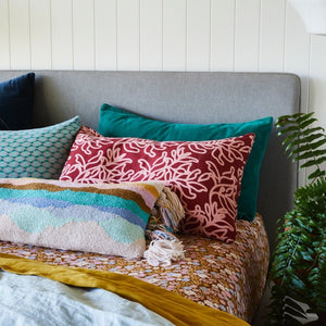 Canyon Velvet Pillowcase - Opal
