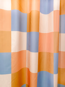 Salton Check Printed Shower Curtain.