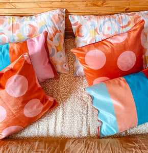 Dotty Dot Velvet Cushion (Pre-Order)