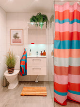 Load image into Gallery viewer, Lula Striped Printed Shower Curtain.