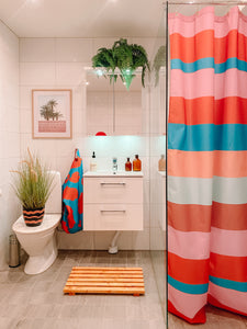 Lula Striped Printed Shower Curtain.