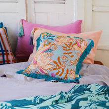 Load image into Gallery viewer, Pantai Tassel Pillowcase - Peach