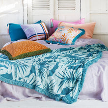 Load image into Gallery viewer, Pantai Tassel Pillowcase - Peacock