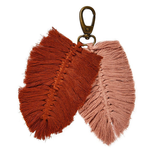 Sierra Macrame Key Ring - Terracotta/Brick