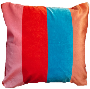 Lula Striped Velvet Cushion.