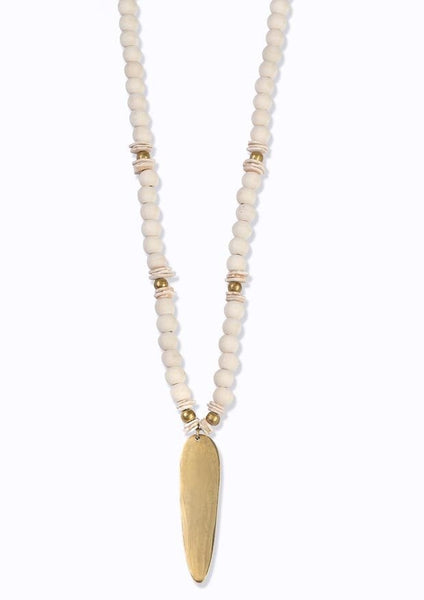 Amazon Beaded Necklace Ivory