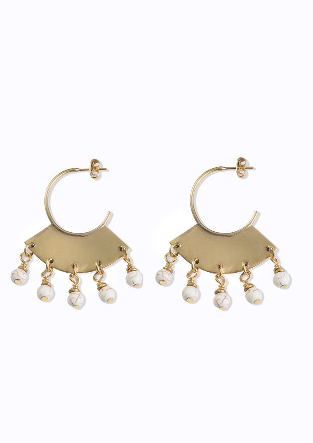 Masaai Earrings Ivory