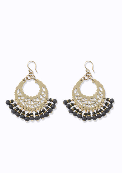 Marrakech Earrings Charcoal