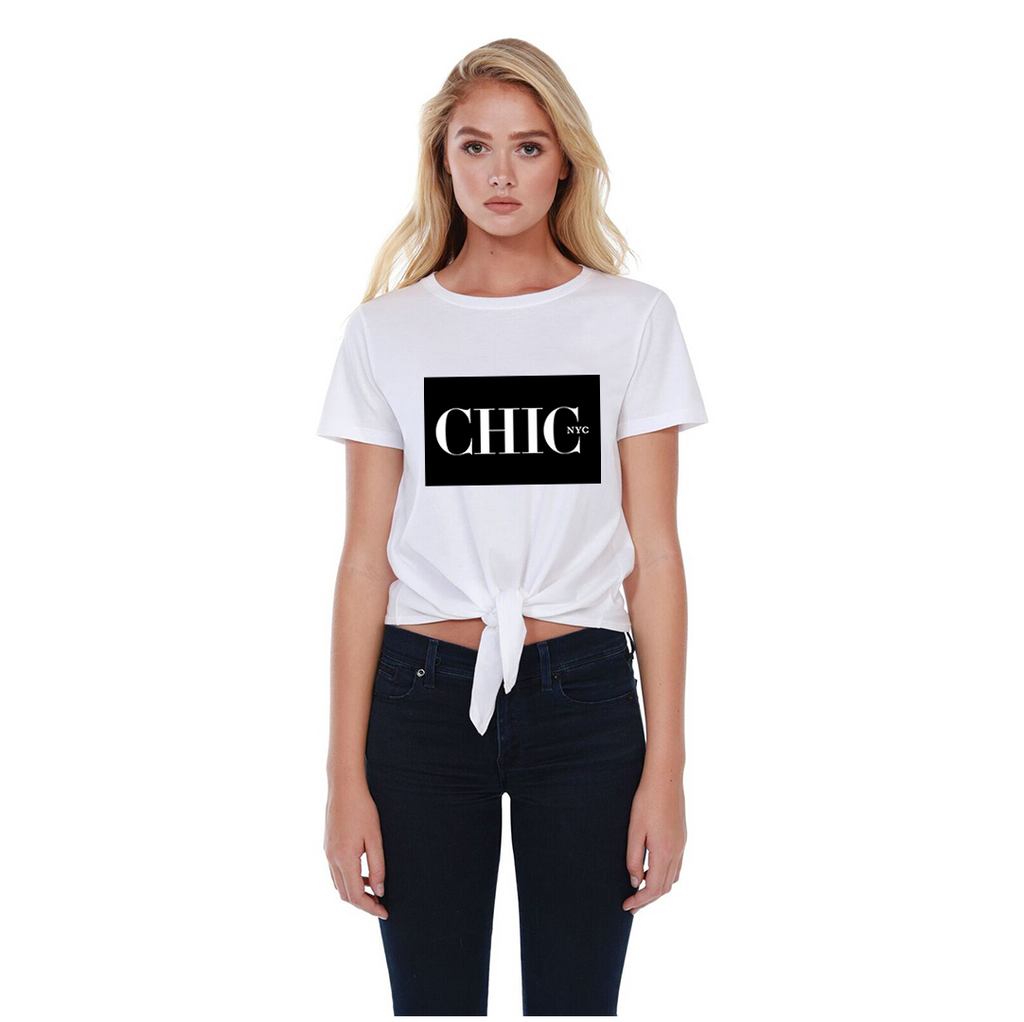 Chic NYC Classic Tee Shirt - WHITE - As featured at New York Fashion Week
