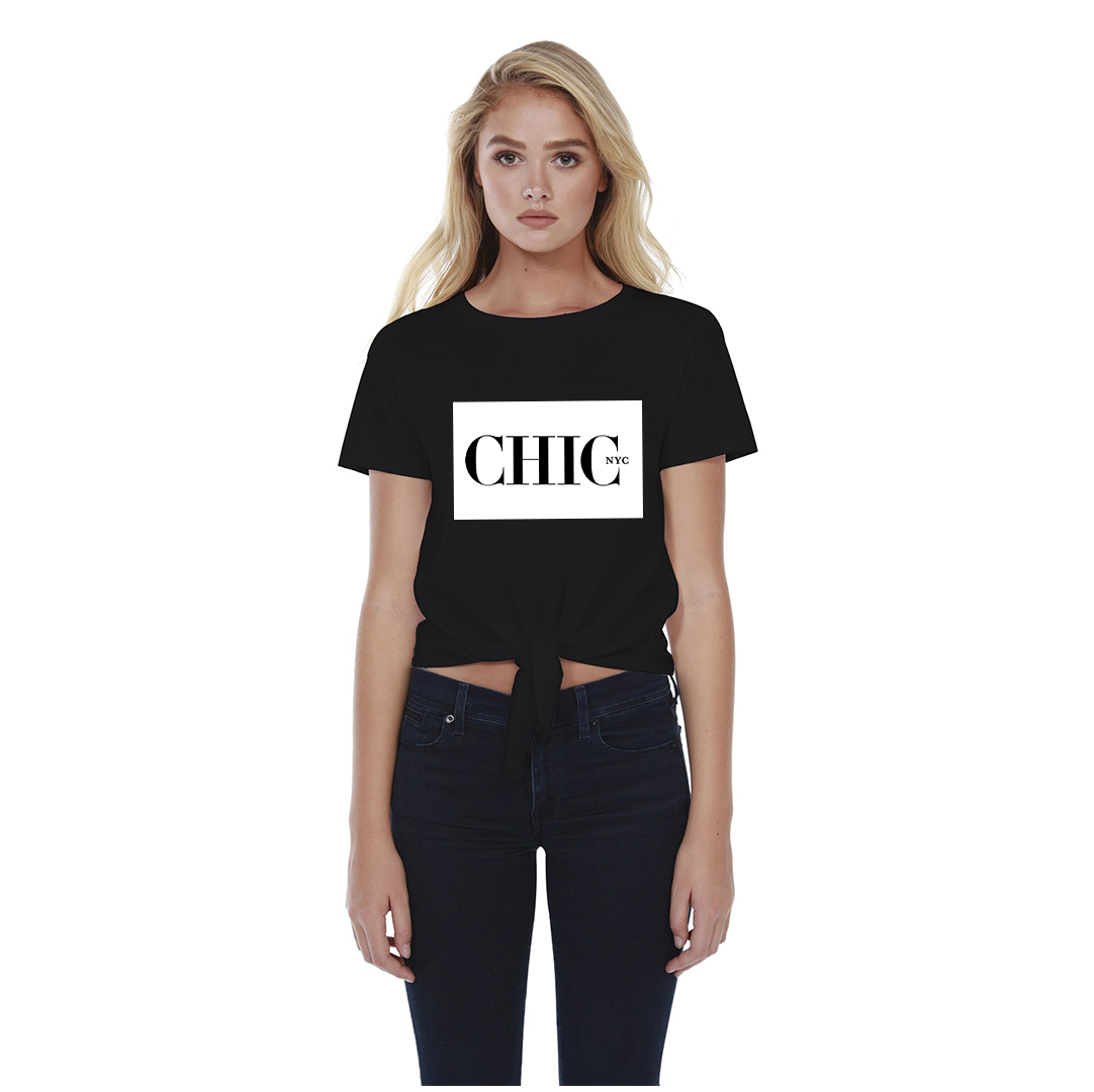 Chic NYC Classic Tee Shirt - BLACK - As featured at New York Fashion Week