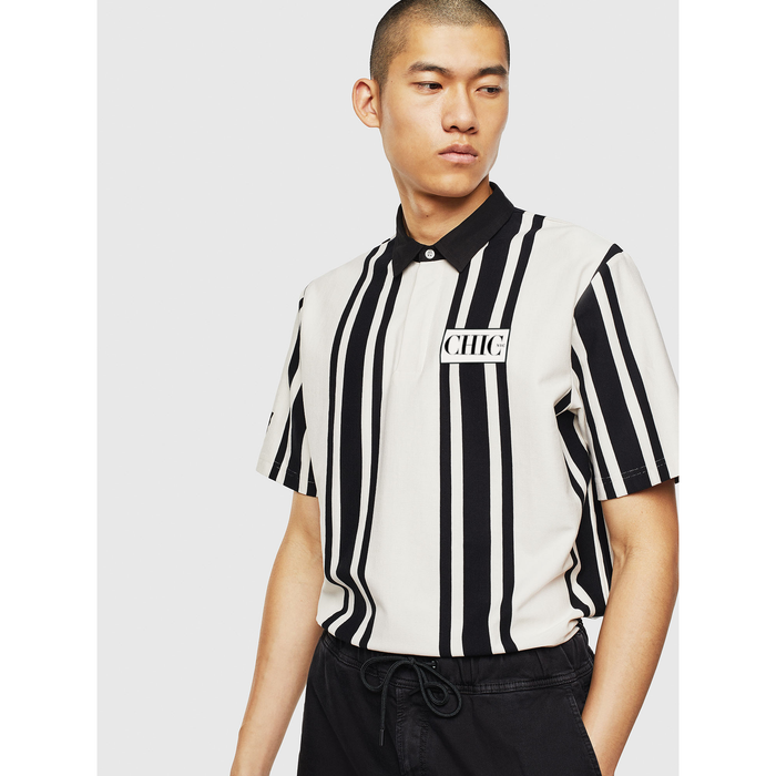 CHIC NYC Premium Polo Shirt with Stripes