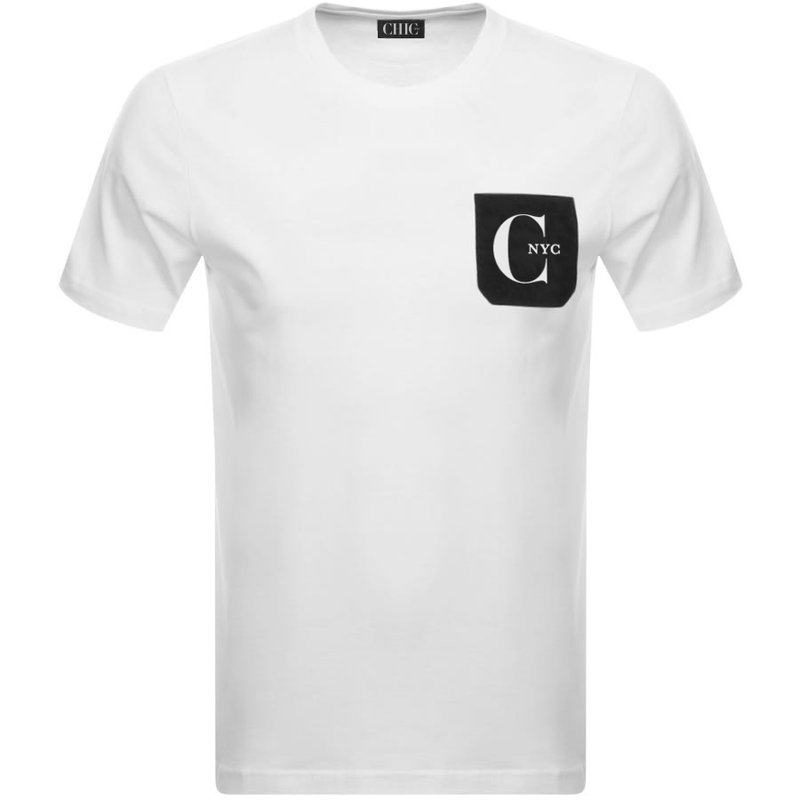 Black T-Shirt with White Pocket