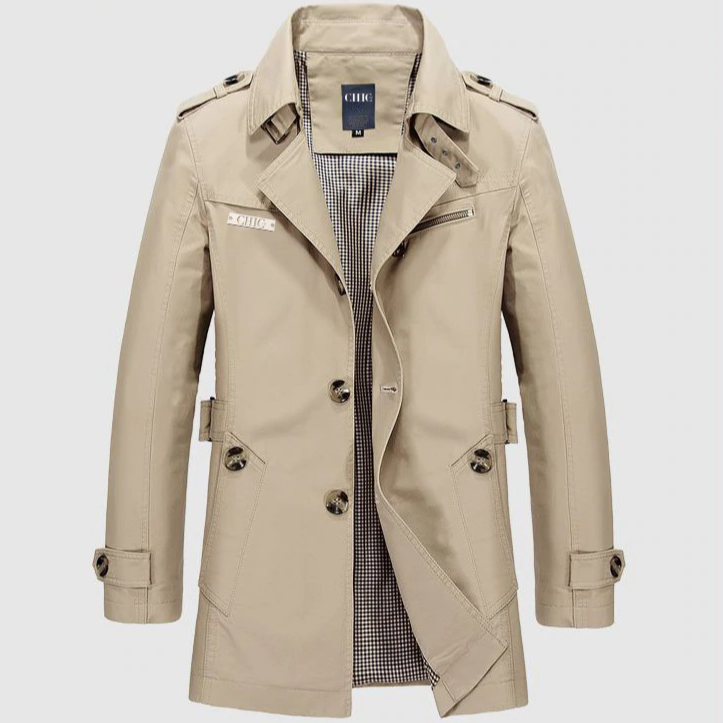 Cotton Beige Trench Coat