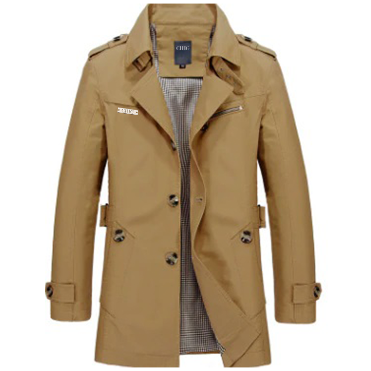 Cotton Brown Trench Coat