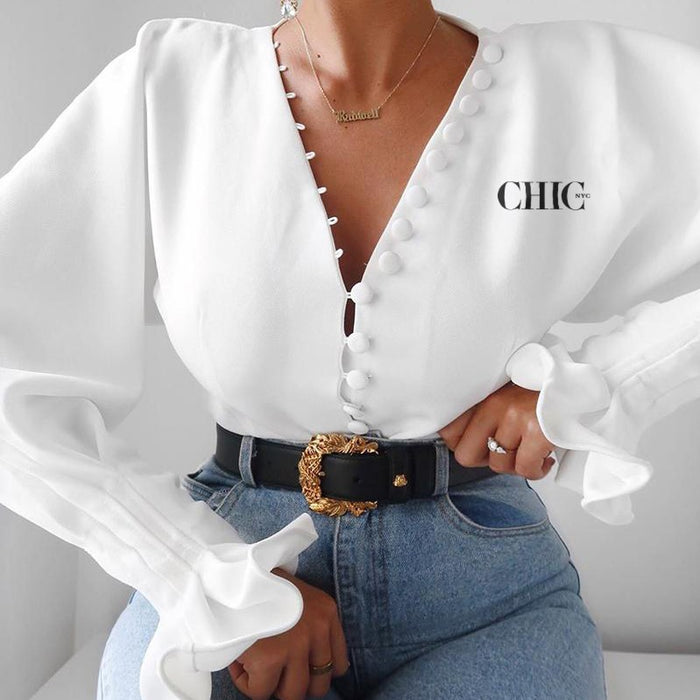 Chic NYC  Balloon Sleeve Blouse