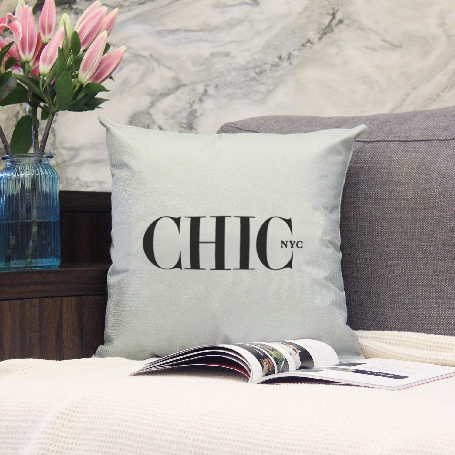 Chic NYC Fulton Pillow