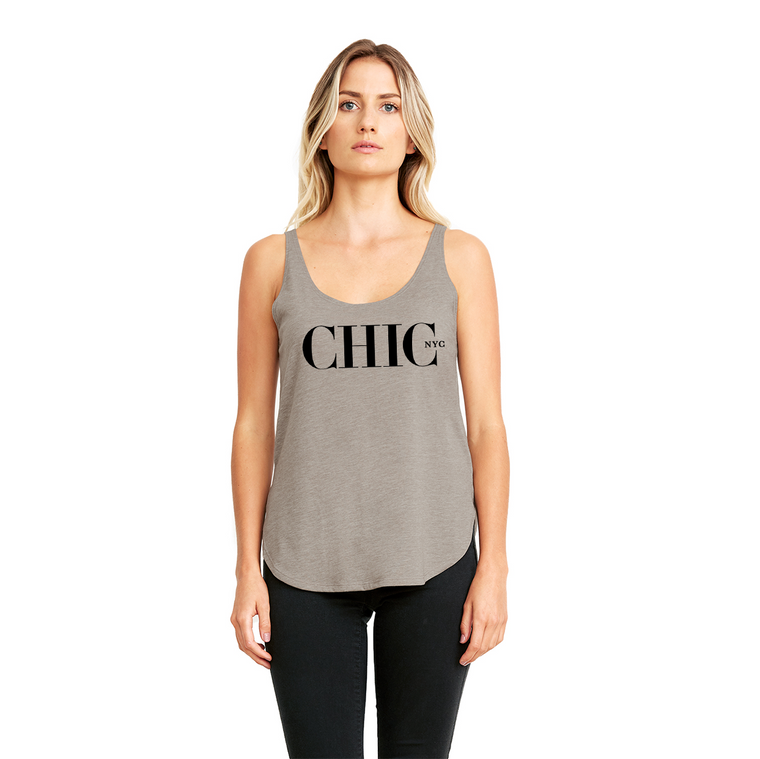 Chic NYC Organic Tank Top - Natural Gray