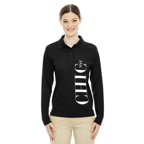 CHIC NYC Black Long Sleeve Polo