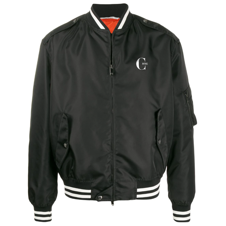 Black Bomber Jacket with Special Logo of CHIC NYC