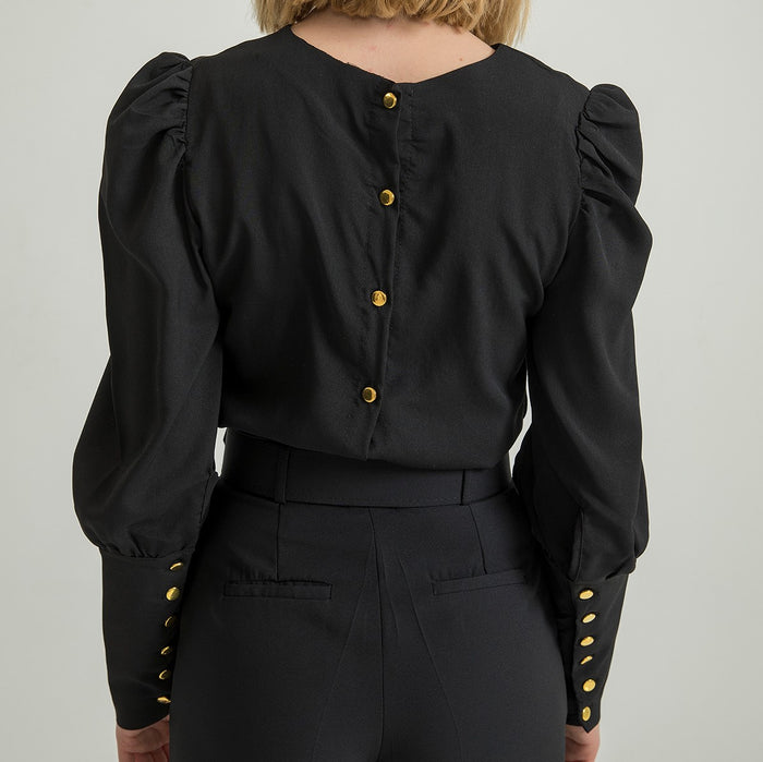 Chic Nyc  Black Blouse