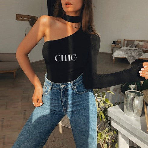 Chic NYC One Shoulder Blouse