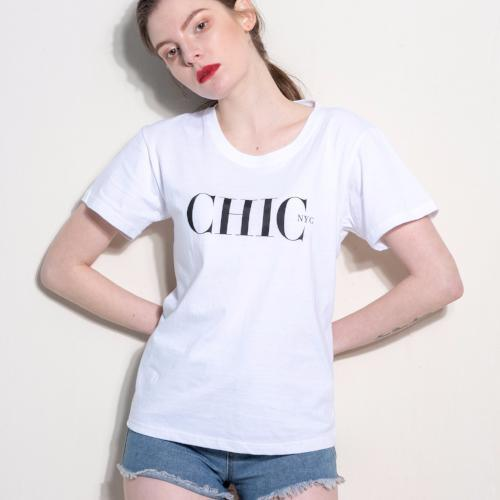 CHIC NYC Tee Shirt - FEATURED IN MILANO SPRING White - Buy for a chance to WIN FASHION SHOW TICKETS