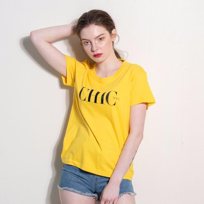CHIC NYC Tee Shirt - SPRING EDITION YELLOW - Buy for a chance to WIN FASHION SHOW TICKETS