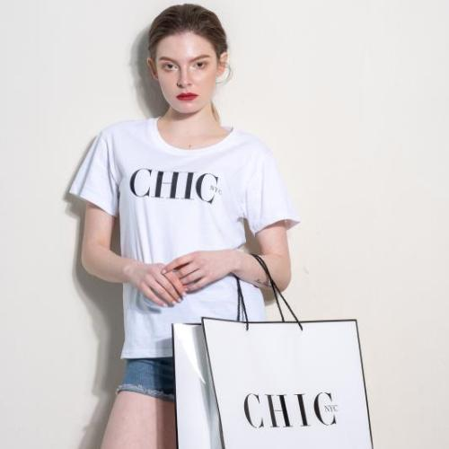 Labor Day Sale - CHIC NYC Tee Shirt - FEATURED IN MILANO SPRING White - Buy for a chance to WIN FASHION SHOW TICKETS