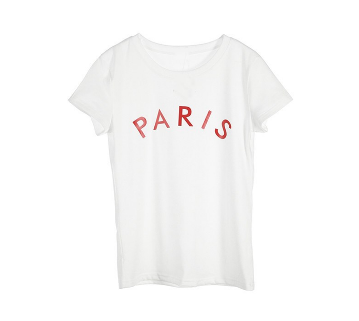 Paris Graphic T Shirt - White