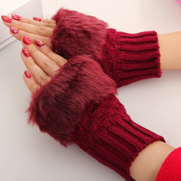 Xoxo 5th Avenue Winter Fur Gloves