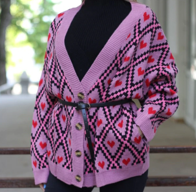 CHIC NYC Printed Ladies Knitted & Cardigan Sweater