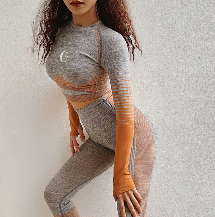 Spruce Orange Activewear Set