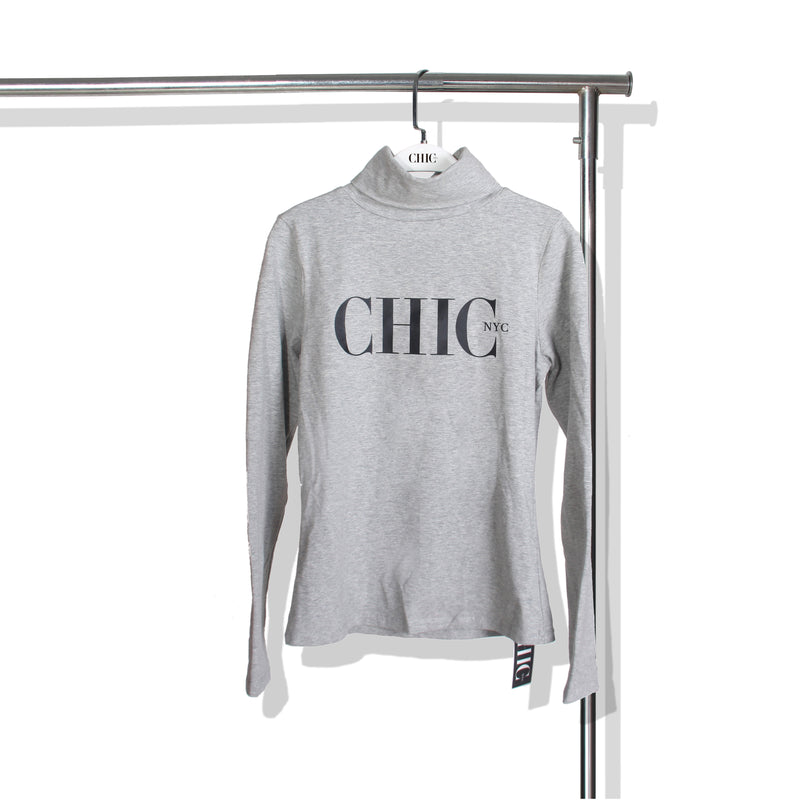 Chic NYC Turtle Neck -Gray