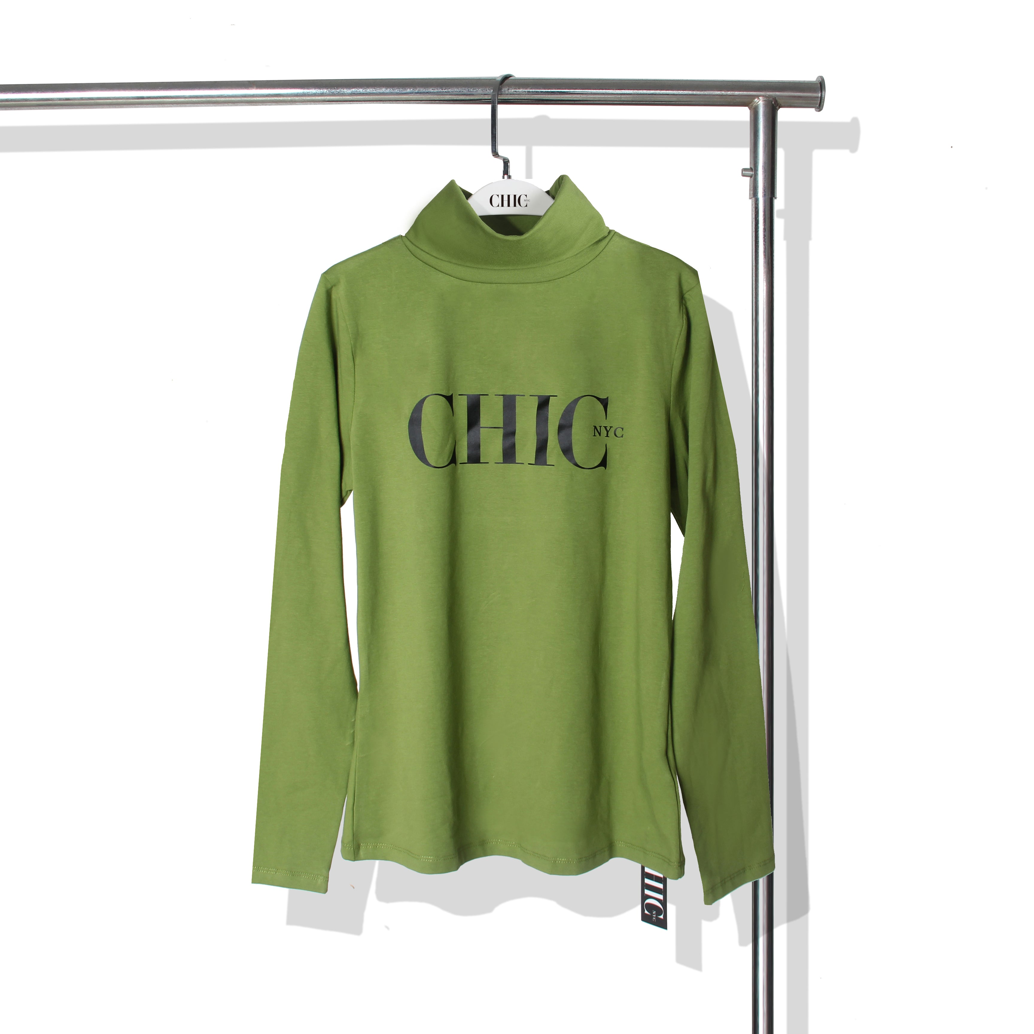 Chic NYC Turtle Neck - Central Park Green