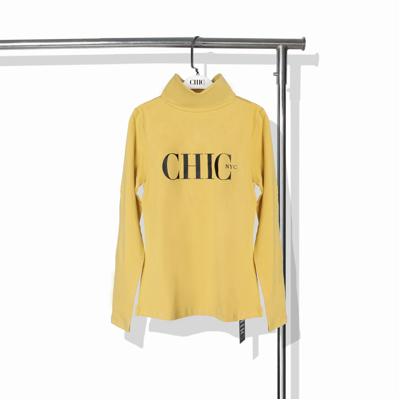 Chic NYC Turtle Neck - Yellow