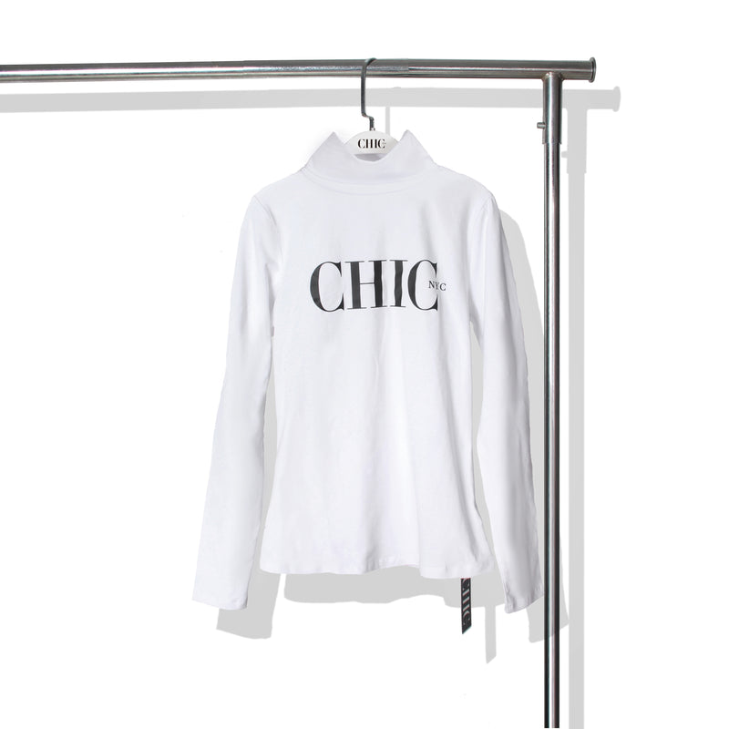 Chic NYC Turtle Neck - White