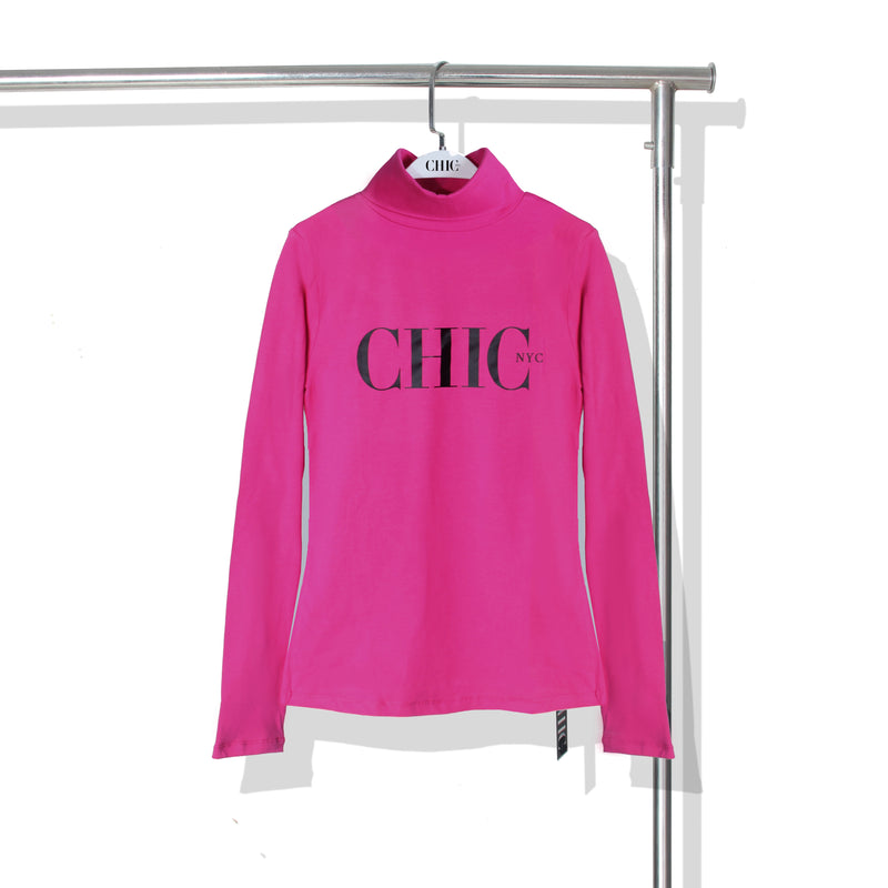 Labor Day Sale - Chic NYC Turtle Neck - Pink