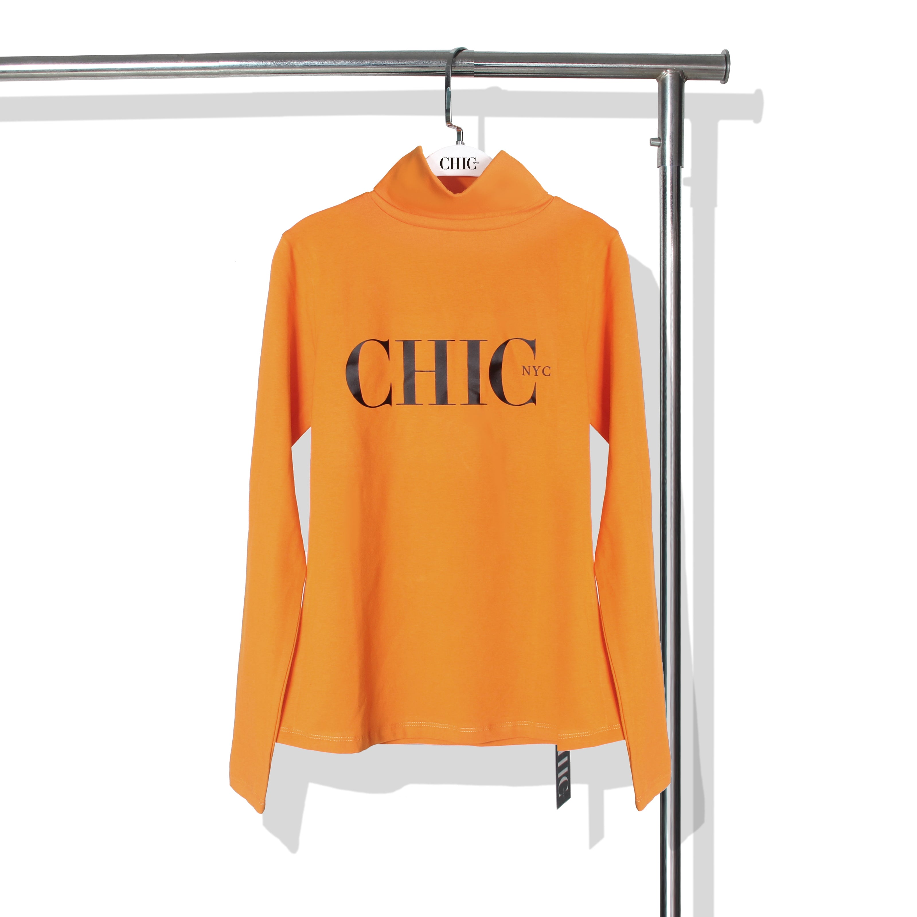 Chic NYC Turtle Neck - Orange