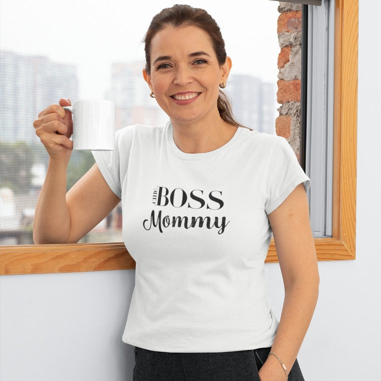 Boss Mommy White T-Shirt