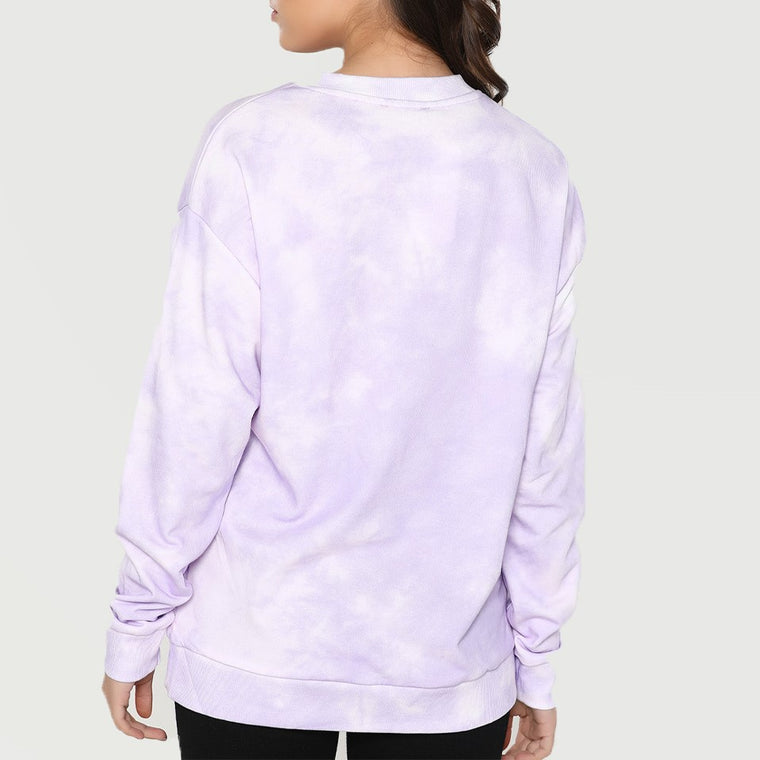 CHIC NYC Cloud Pattern Purple Hoodie