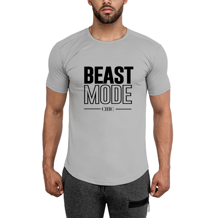 Gray Beast Mode Fitness T-Shirt