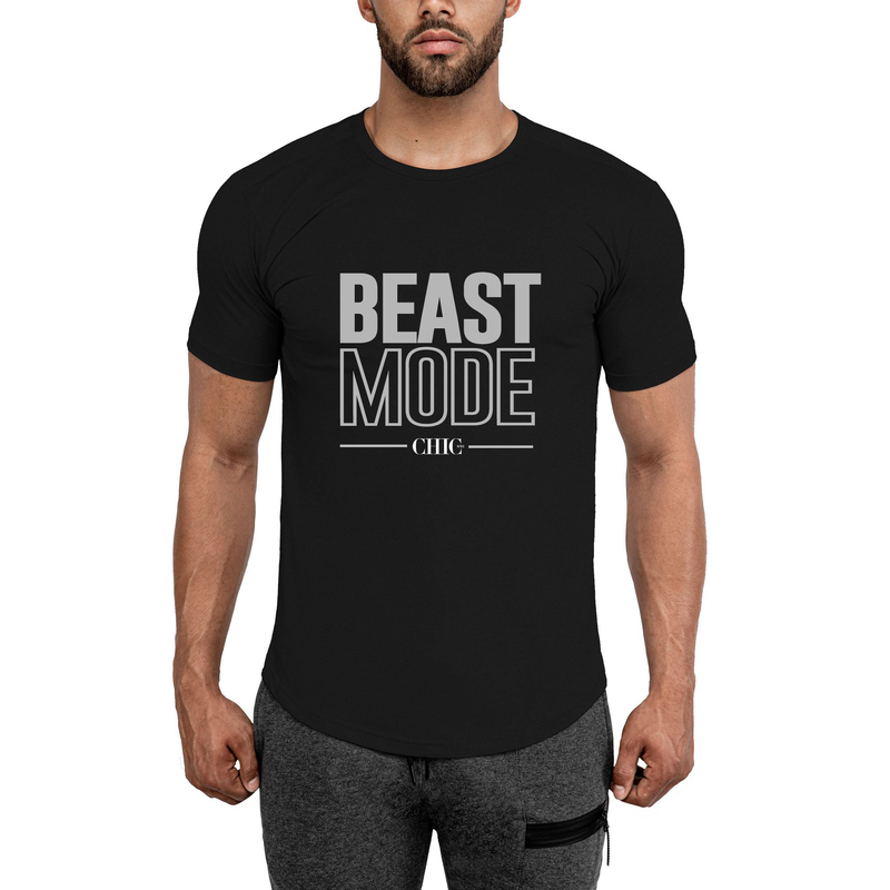 Black Beast Mode Fitness T-Shirt