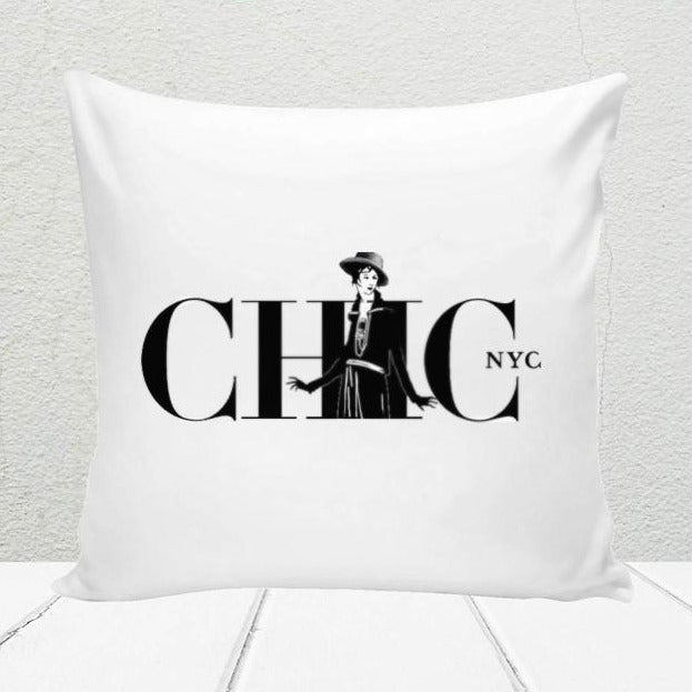 Chic NYC  Design White Pillow