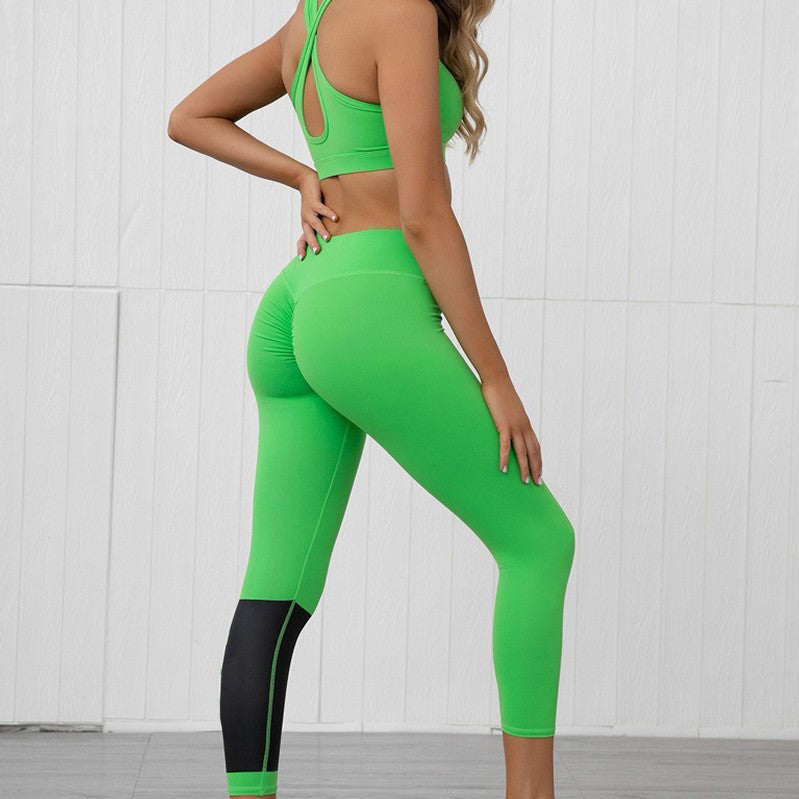 Labor Day Sale - Neon High Waist Activewear Set