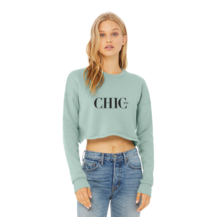 CHIC NYC Dusty Blue Short Waist Sweatshirt