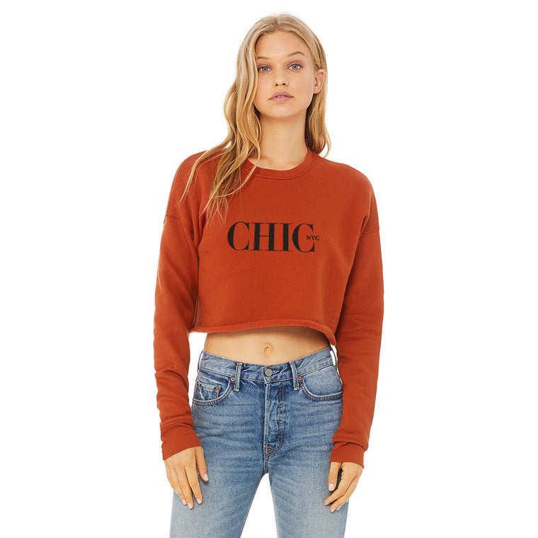 CHIC  NYC Brick Short Waist Sweatshirt
