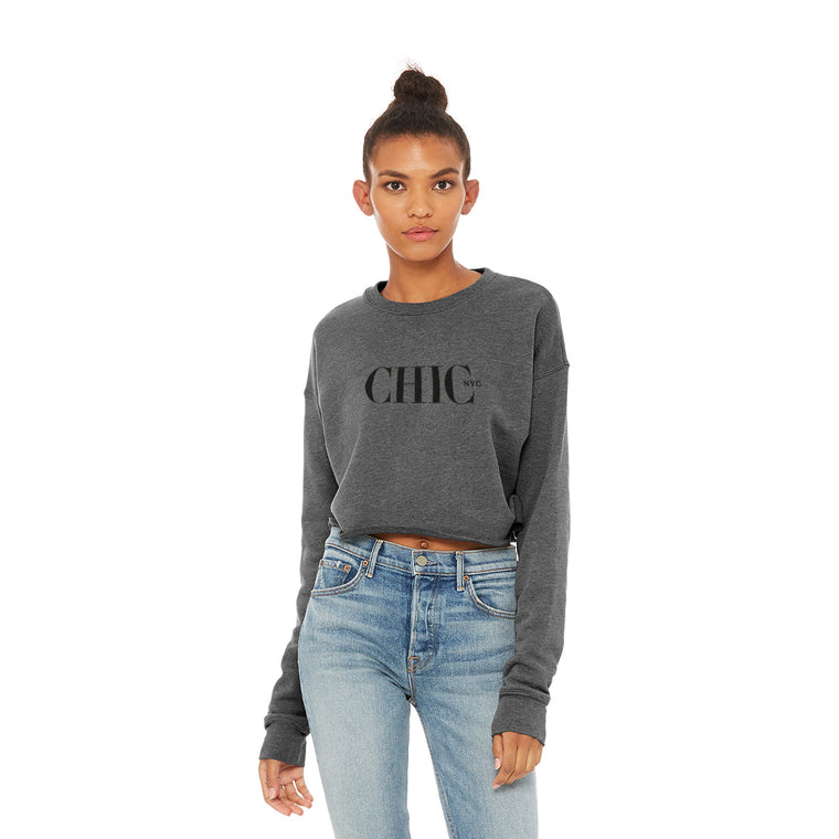 CHIC NYC Deep Heather Short Waist Sweatshirt